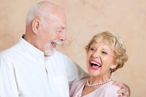Senior couple in love, still make each other laugh.
